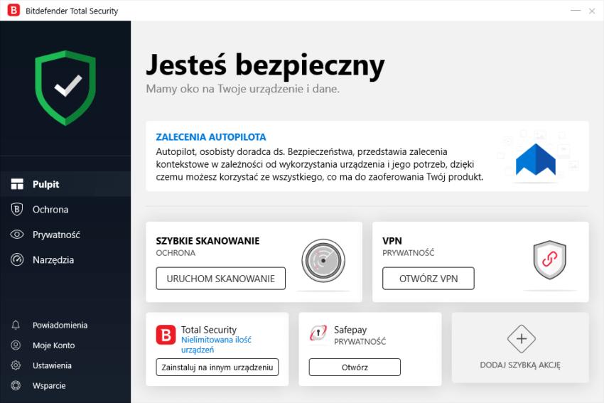 Bitdefender - wizualizacja