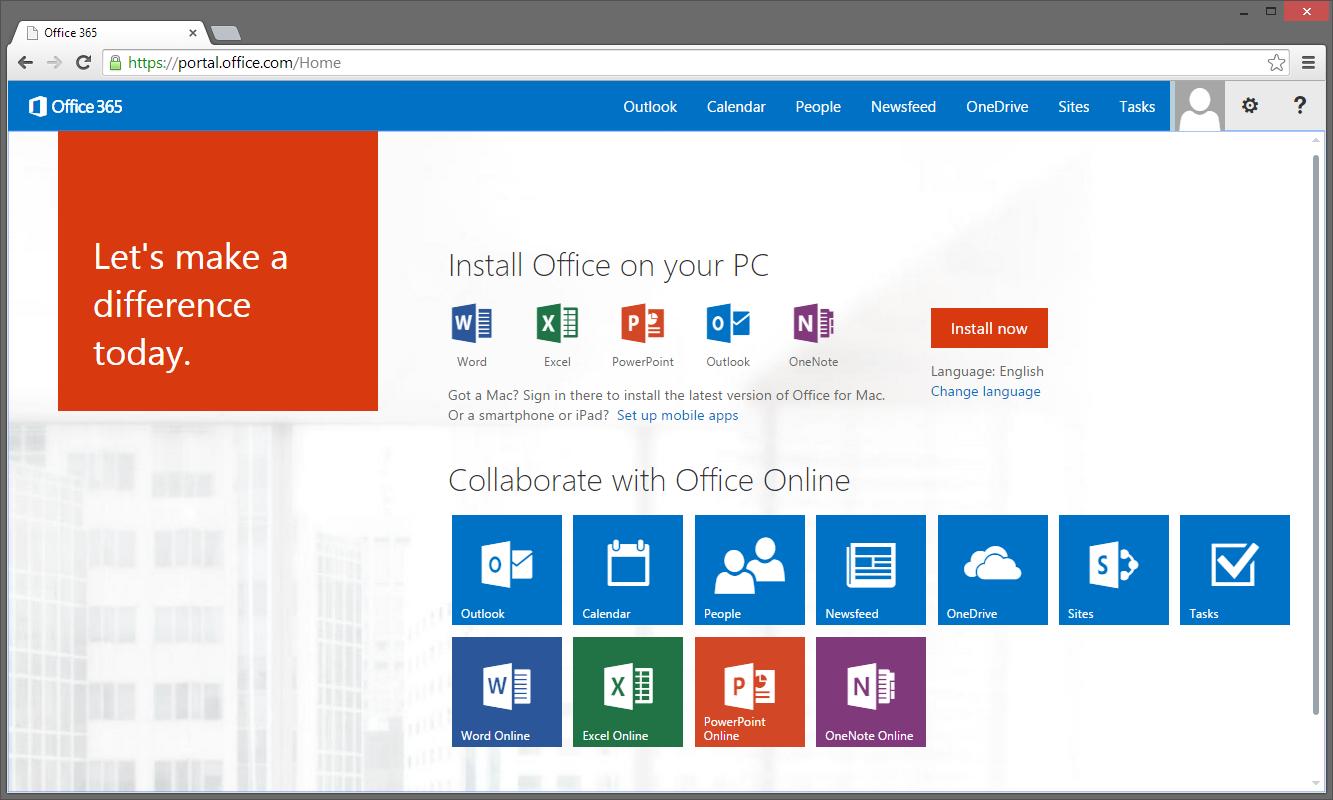 Office 365 - wizualizacja